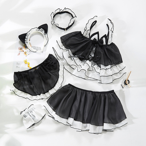Image 5 - Lolita Cute Cat Girl Sexy Maid Uniform Transparent Lingerie Schoolgirl Womens Devil Cosplay Sexy Costumes Anime Underwear Outfit