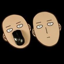 Alfombrilla de ratón One Punch para hombre, accesorios de Cosplay de Anime, Saitama, regalo divertido