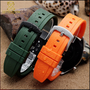Image 5 - fluororubber watch strap Silicone Rubber bracelet quick release bar 20mm 22mm 24m watchband for huawei watches brands watch band