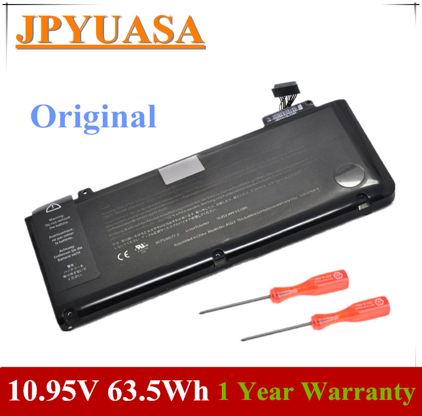 7XINbox 10.95V Laptop Battery A1322 For MacBook Pro 13 Inch A1278 (Mid 2010 2009 2012 Early 2011) MC374LL/A MC375LL/A 020-6547-A