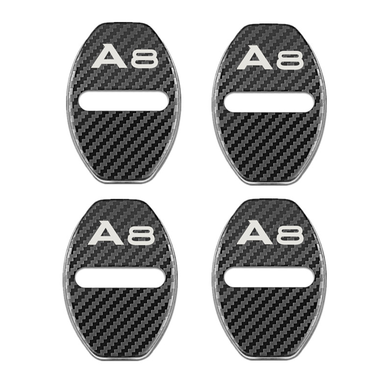 Door Lock Decoration rust protection Stainless Steel Cover case for <font><b>Audi</b></font> <font><b>A8</b></font> <font><b>d2</b></font> d3 4e d4 accessories Car Styling image