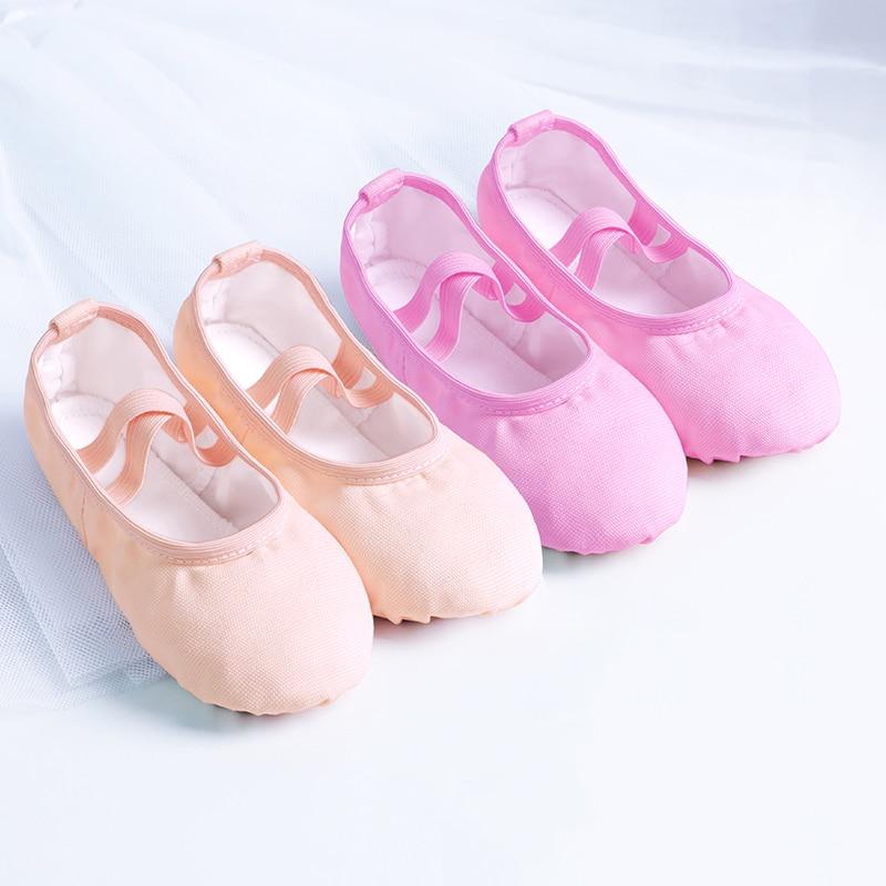 Girls Kids Pointe Shoes Dance Slippers High Quality Ballerina Practice Shoe For Ballet 6 color Ballet Dancer Professional Shoe 2