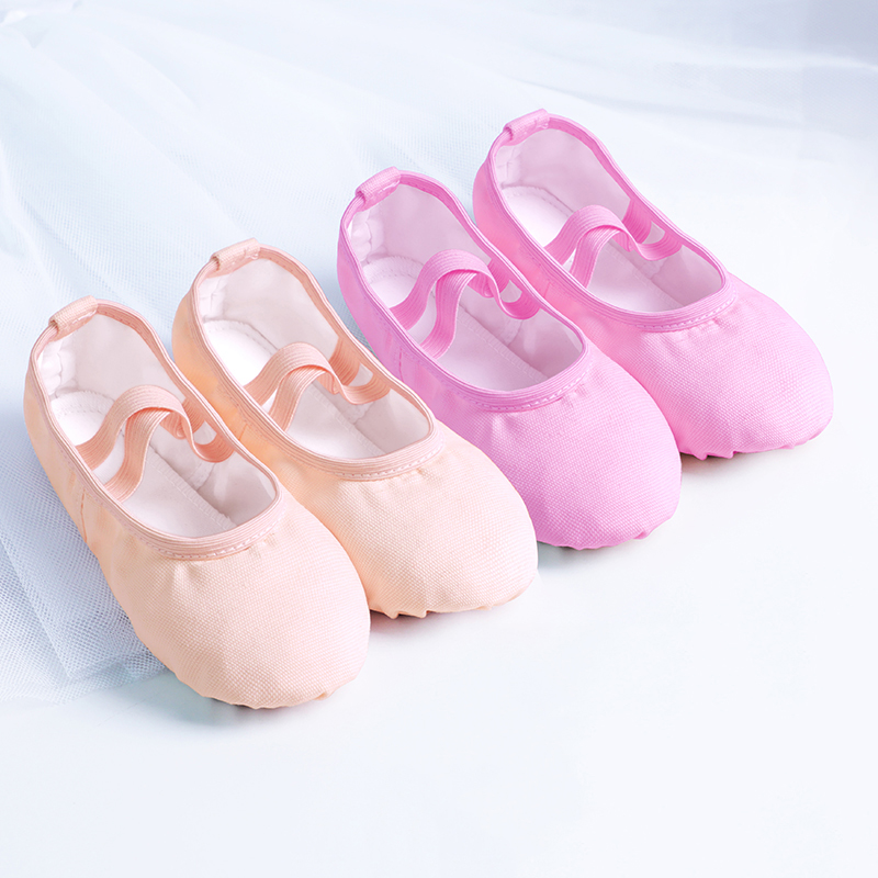 Children Ballet Shoes Dance Soft Shoes For Girls Kids Toddler Canvas Shoes 6 Colors Leather Sole