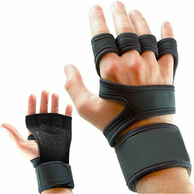 Women Men Half Finger Work Out Gym Gloves Sport Weight Lifting Exercise Fitness Fitness Gloves Weight Lifting Gym Wrist Wrap