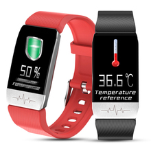 T1 Smart Watch Wristband Temperature Measure ECG Heart Rate Detection Message Reminder Fitness Sports Watch For Android IOS