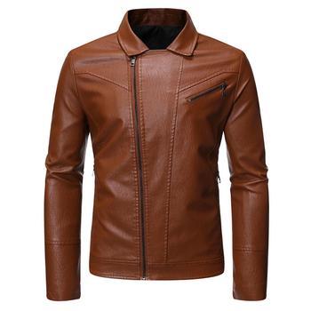 Men Autumn Motorcycle Vintage Leather Jacket Coat Men Outfit Fashion Biker  PU Leather Jacket Men Causal Jacket maplesteed vintage motorcycle jacket men leather jacket 100