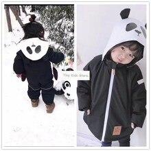 Girlymax الاطفال الملابس خط أصدقاء الباندا snowsuit بنين الملابس الفتيات الملابس الأسرة مطابقة الملابس الكورية نمط