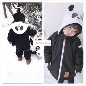 Image 1 - girlymax kids clothes line friends panda snowsuit boys clothing girls clothing family matching clothes korean style