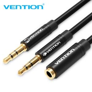 Convenio de 3,5mm Aux Cable de Audio Y Cable divisor Jack 3,5 de hembra a macho dual auriculares divisor de auriculares de Cable para auriculares para portátil