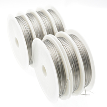 40M/Roll Stainless Steel Wire Tiger Tail 0.3/0.38/0.45/0.5/0.6/0.7/0.8mm Resistant Strong Line Beading Wire for Jewelry Making