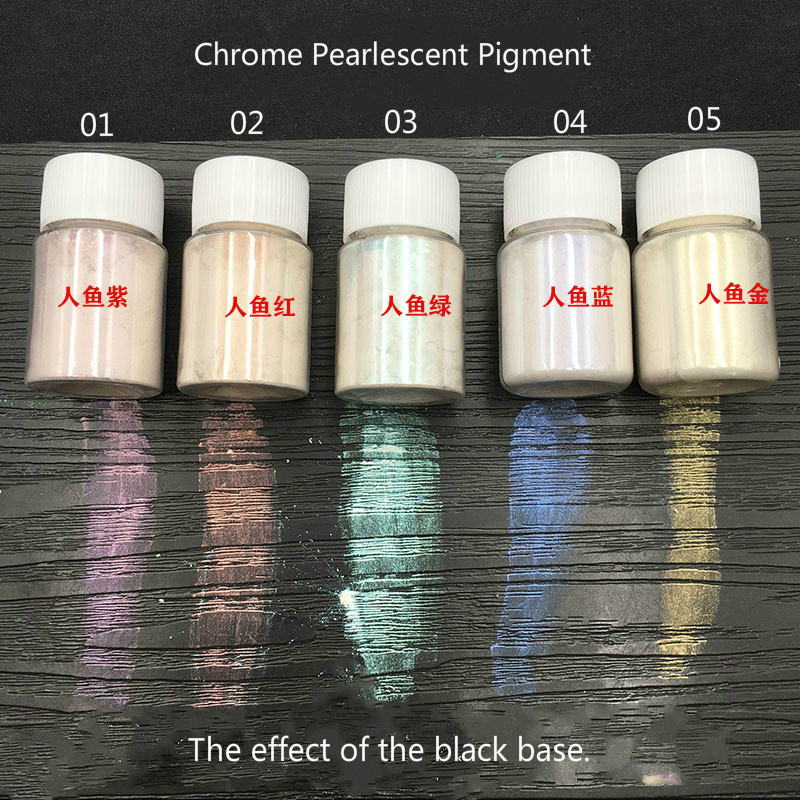 Rainbow Color Chrome Pearlescent Pigment Color For Resin Crafts Iridescent Pearl Effect Pigment Shimmer Coloring Jewelry Making