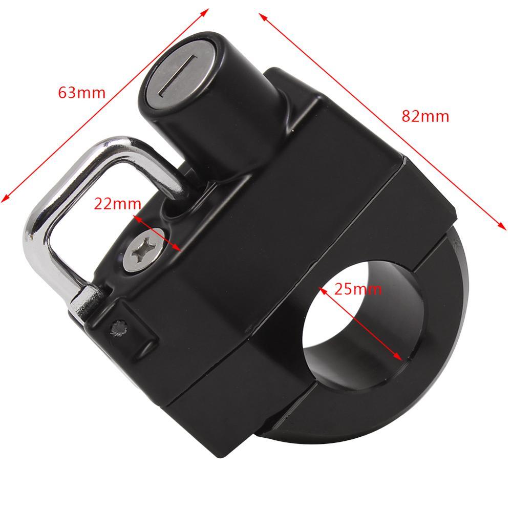 22mm Universal Motorcycle Helmet Lock Handlebars For Cafe Racer 1