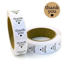 Круглый спасибо наклейки персонализированные этикетки детские упаковка уплотнения наклейки рождественские украшения DIY Теги свадебные 1В 500шт