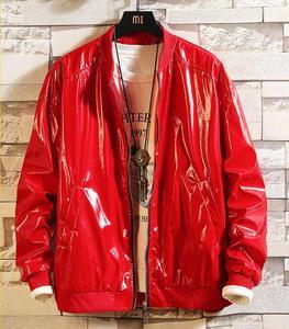 Весенняя мужская кожаная куртка из искусственной кожи, трендовая Корейская версия, Мужская Глянцевая кожаная бейсбольная форма, мотоцикле...