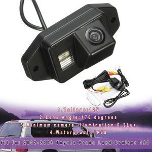 EIDRAN Black RearView BackUp Reverse Parking Camera For Toyota Prado Land Cruiser 2002-2009