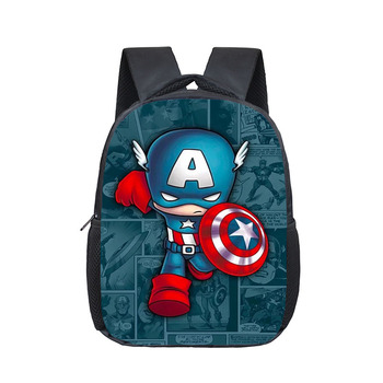 12 Inch Superhero Hulk Iron Man Backpack Schoolbags Girls Boys Children School Bags Kindergarten Toddler Backpack