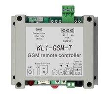 APP שלט GSM מתג KL1 GSM T עם טמפרטורת חיישן תומך 10A פלט, 1 טמפרטורת זיהוי, 6 קבוצות שליטה