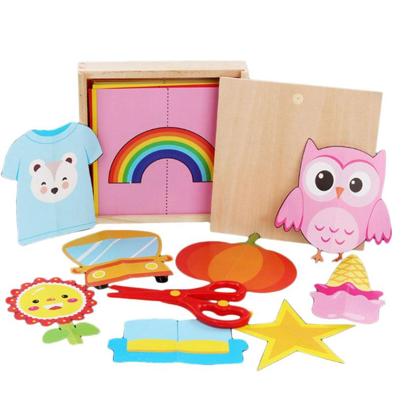 Paper-cut Craft Parent-Child Game Interesting Manual Creative Lovely Cartoon DIY Paper Develop Intelligence Folding
