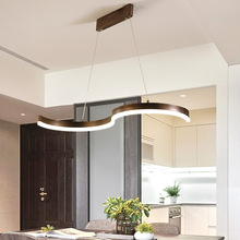 Apextech LED Pendant Lights Nordic Creative S Shaped Hanging Lamp Dining Room Restaurant Deco Lighting Lights lican nordic restaurant pendant lights dining room bedroom lamp creative personality bar table lights pendant lamp home decors