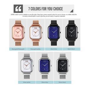 Image 5 - SKMEI מזדמן נשים קוורץ שעון אלגנטי אופנה שעוני יד עמיד למים מגנט שעון בנד מלבני חיוג zegarek damski 9207
