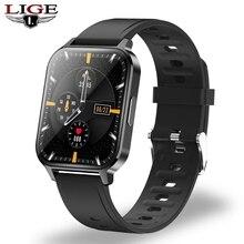 LIGE yeni 1.7 ″ büyük ekran erkekler akıllı saat bileklik IP68 su geçirmez erkek spor saati kalp hızı uyku monitör Smartwatch kadınlar