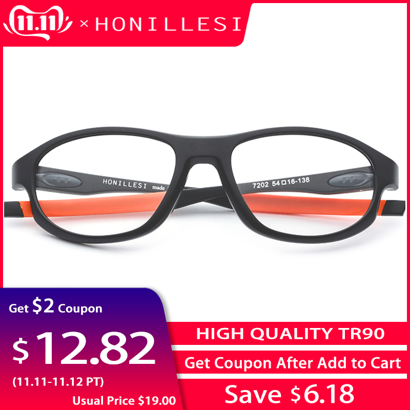 TR90 Sports Optical Glasses Frame Men 2018 New Fashion Eyewear Spectacles Basketball Full Myopia Outdoor Prescription Eyeglasses