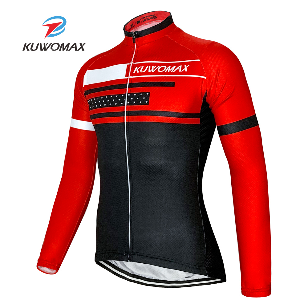 2020 NEW KUWOMAX Cycling Jersey Long Sleeve Breathable and Quick Dry Rope Ciclismo Cycling Clothes Bicycle Jersey Cycle Clothing