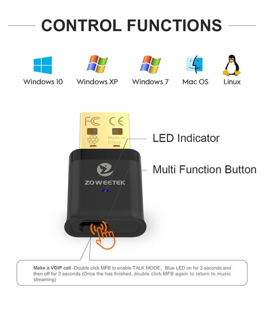 Купить zoweetek usb bluetooth адаптер 50 ключ с aptx низкой задержкой картинки цена