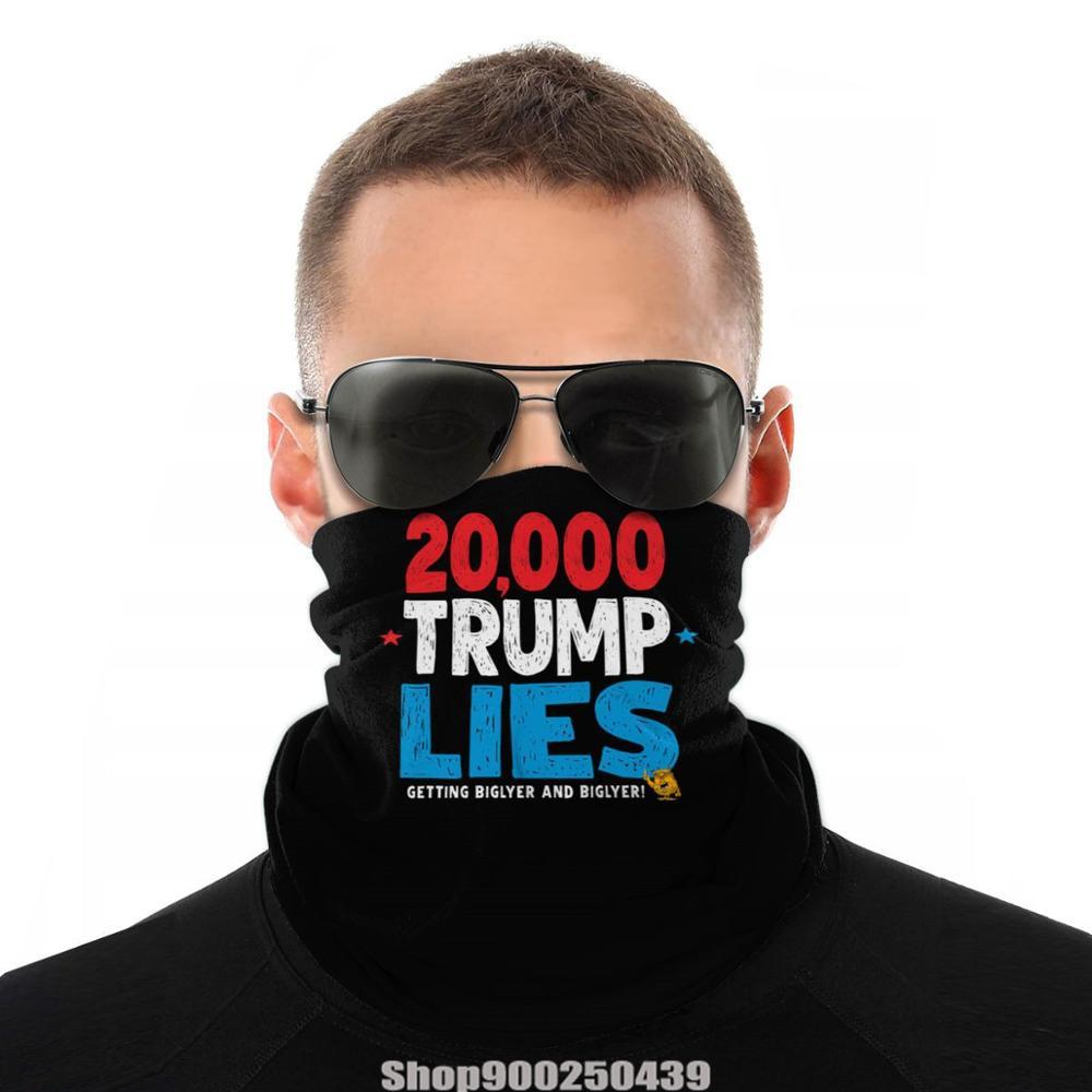 Trump 20K Mentiras bandana bandana cachecol DIY 2020 animal print reutilizável respirável Como Máscara acessórios para o cabelo Headwear Perfeita