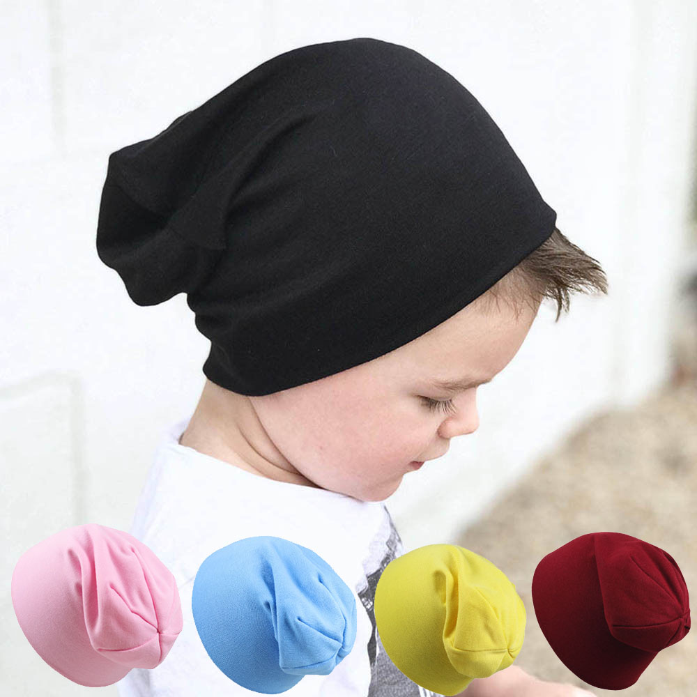 Kids Hat Cap Candy Solid Colors Boys Girls Baby Hats Cotton Born Baby Hat Toddler Infant Caps New High Quality