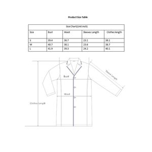 Image 5 - Weiß Labor Mantel für Frauen, Krankenschwester und Arzt Mantel, Professionelle Medizinische Arbeitskleidung Uniform, Slim Fit, weiß Mantel mit 3 Taschen