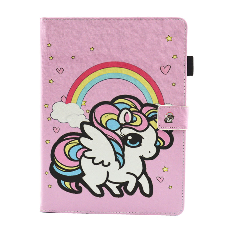 20 Rose Red Cute Unicorn Cat Case For iPad 10 2 Case 2019 Tablet Cover For iPad 10 2