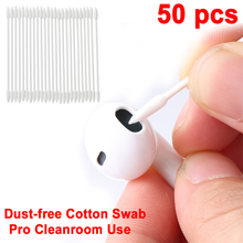 50PCS Swab For Apple Airpods Case For AirPods Earphone Phone Charge Port Apple Airpods Cotton Disposable Stick Cleaning Tool