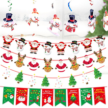 Spiral-Ornament-Set Christmas-Decorations Pull-Flag Hot-Selling Holiday No Elk Elderly