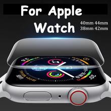 Softs folia do Apple Watch band 44mm 40mm folia na wyświetlacz 42mm 38mm 9D HD folia odporna na zarysowania do serii iWatch 6 5 4 3 2 SE tanie tanio HAIMAITONG CN (pochodzenie) Folia hydrożelowa TEC203