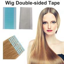 36 шт лоб парика-накладка клейкая лента высокое качество двухсторонние шарики клея для наращивания волос полоски белые синие волосы парик клей
