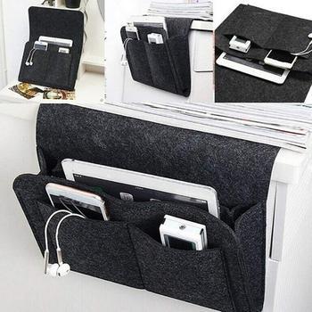 Bedside sofa desk storage bag felt