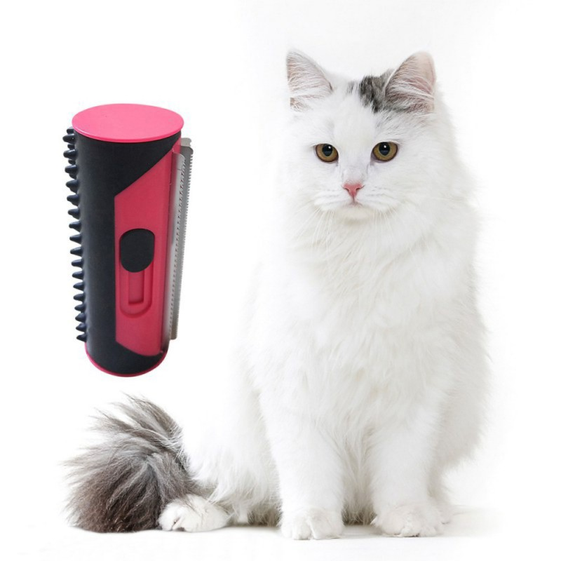 Pet Hair Removal Cleaning Brush Dogs Cats portable Puppy Sofa Clean Carpet Hair Brushes Pets Hair Brushes Puppy Comb(China)