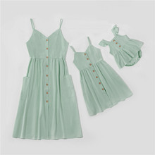 Mom Baby Dress Outfits Daughter-Dresses Family Matching Girls Family-Look Mommy Me And