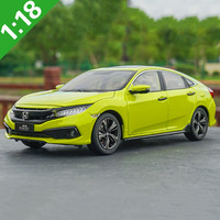 New high quality 1:18 HONDA CIVIC 2019 alloy models,simulation of high grade metal collections and gifts,free shipping