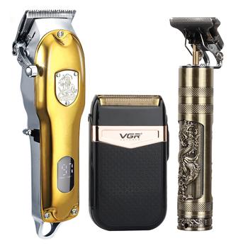 2021 maszynka do włosów zestaw elektryczna maszynka do włosów golarka akumulatorowa trymer mężczyźni fryzjer ścinanie włosów maszyna dla mężczyzn akumulator USB tanie i dobre opinie CN (pochodzenie) 1pcs trymer do włosów metal MFXJQ-T9