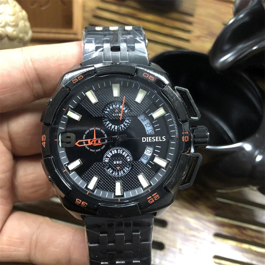 2019 High Quality DIESELS Brand quartz wrist Watch for Men Multifunction style stainless steel Calendar Date Watches