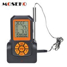 MOSEKO الخلفية الرقمية اللاسلكية عن بعد اللحوم مقياس حرارة للمطبخ الطبخ شواء شواء فرن مع الموقت/إنذار درجة الحرارة