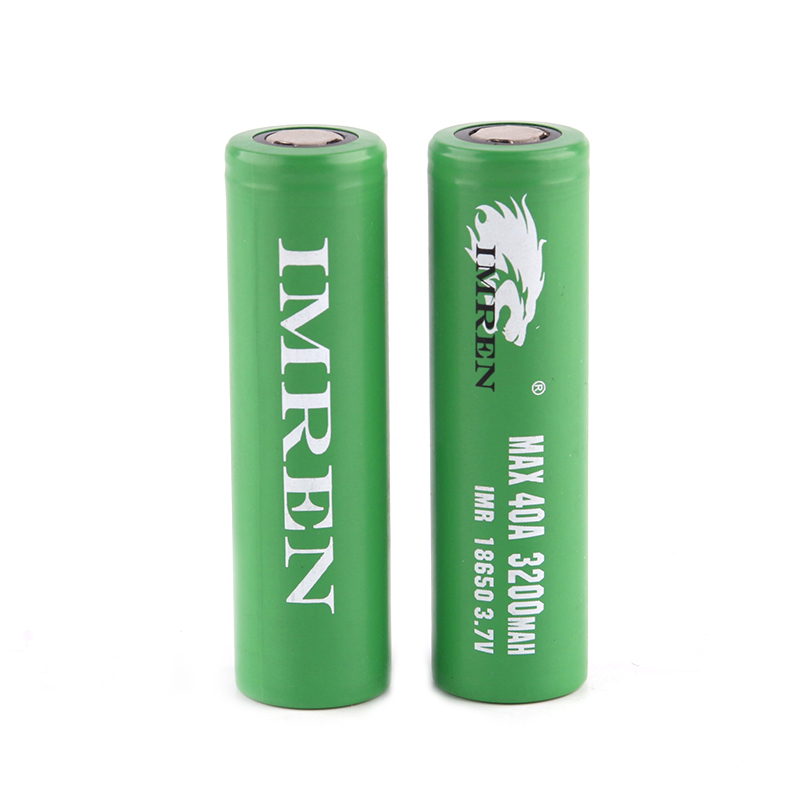 2pcs Imren 18650 40A Battery High Drain Flat Top Lithium Battery 3200mah For Electronic Cigarette Mods