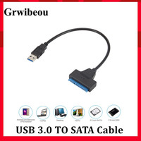 Grwibeou-Cable SATA a USB 3,0, adaptador compatible con disco duro externo SSD HDD de 2,5 pulgadas, 22 Pines, Cable Sata