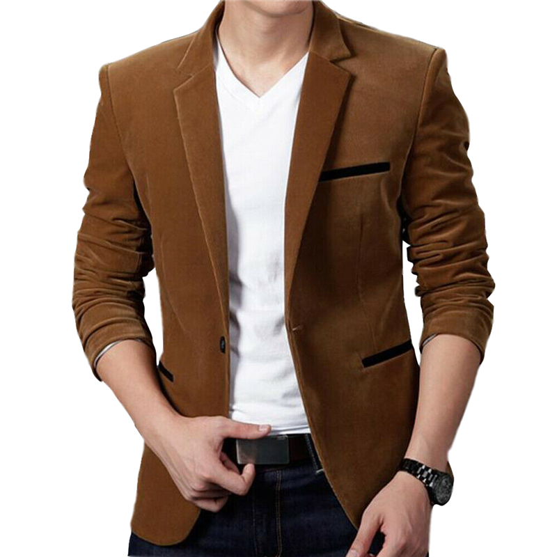 2019 New Men Blazer Casual Slim Fit Office Suit Autumn Winter Jacket Coat Formal Masculina Blazer Men's Business Blazers Outwear