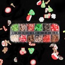 Рождественские украшения искусства ногтя 3d с изображением снеговика