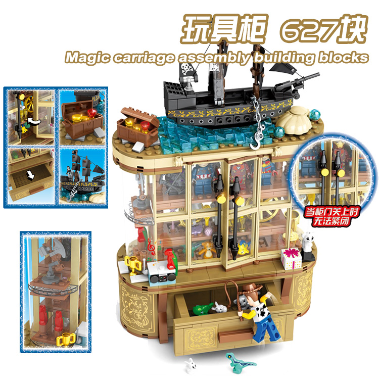 MOC Creator Buzz Lightyear Toy Story Compatible Legos Disneye Cabinet The Avengers Buidling Blocks Bricks Toys For Children Gift