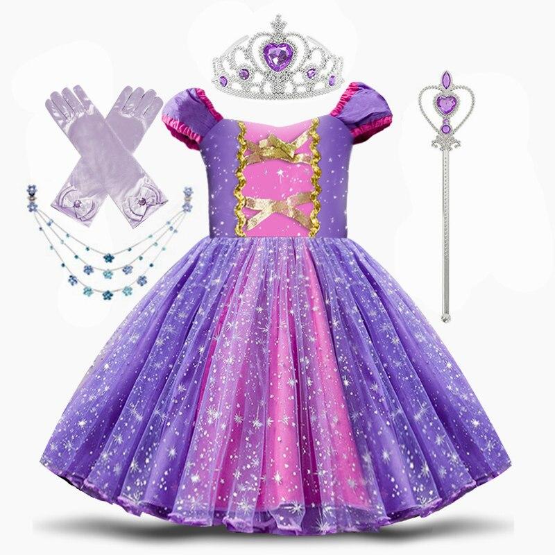 Princess Costume Snow Party Cosplay Dress For Girls Kids Dress up Clothing Fancy Halloween Dress Birthday Dress 1