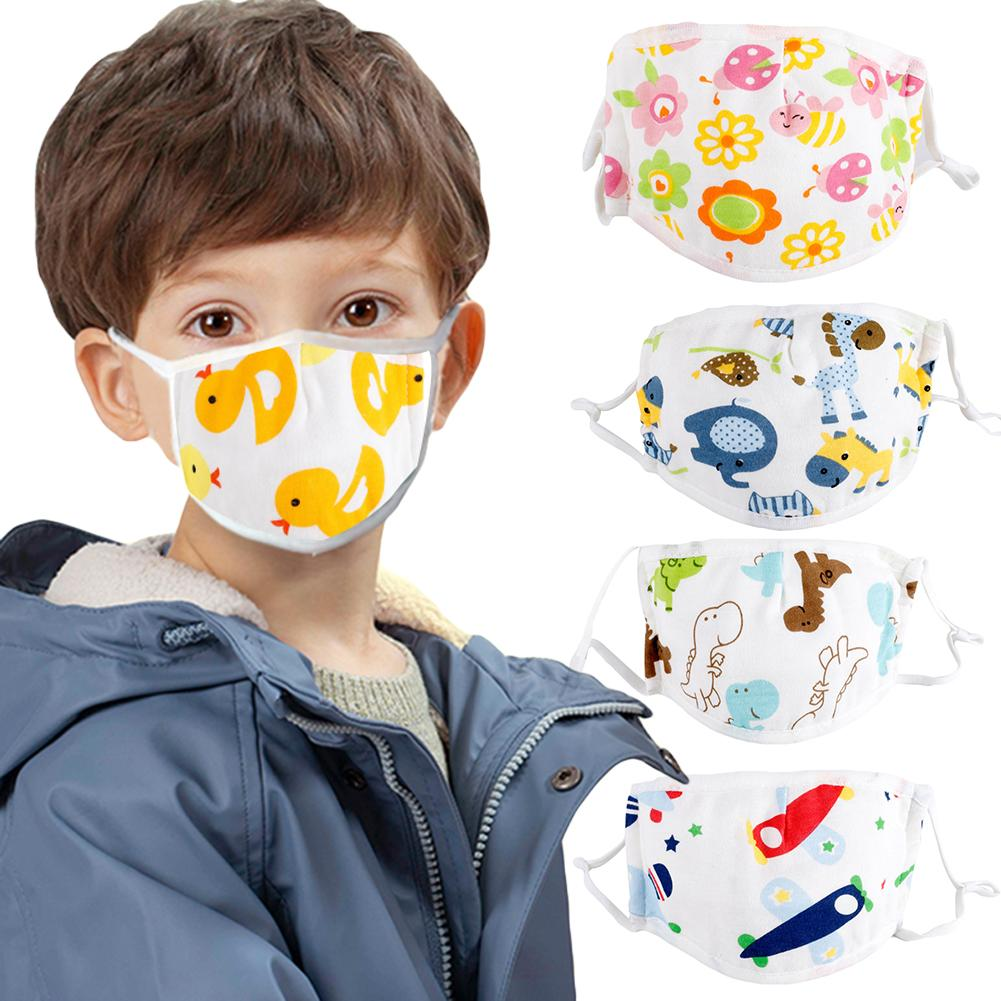 Kids Children Cotton Cartoon Adjustable 5 Layers Anti Haze Dustproof Mouth Mask Comfortable And Breathable Absorb Moisture Sweat